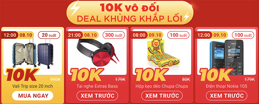 Deal 10K Sendo 10.10