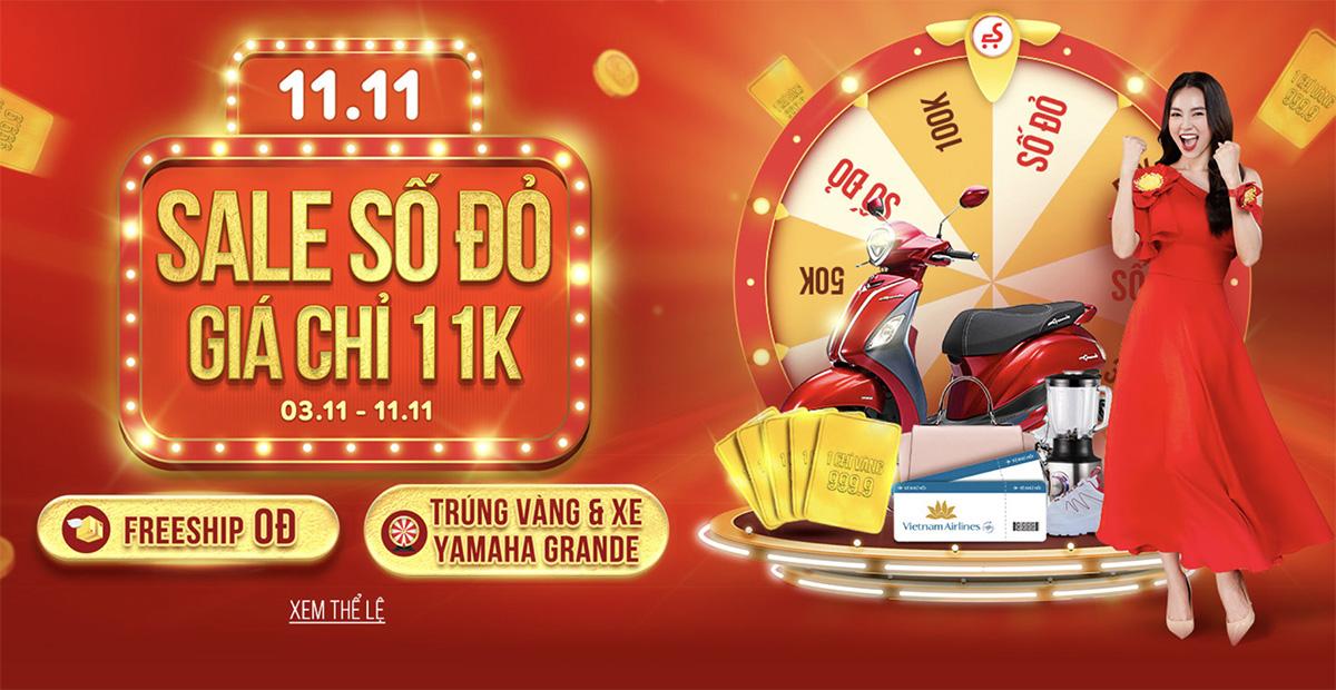 Sendo 11.11 - Sale Số Đỏ