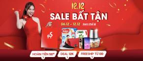 Sendo khuyến mãi 12.12 – Sale bất tận – Hot Sale Dịp Cuối Năm